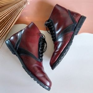 Victorian Style Leather Lace Up Ankle Booties